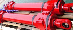 Red New Hydraulic Cylinder