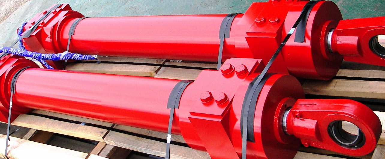 Red New Hydraulic Cylinder