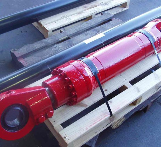 New Red Hydraulic Cylinder