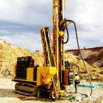Yellow mining drill