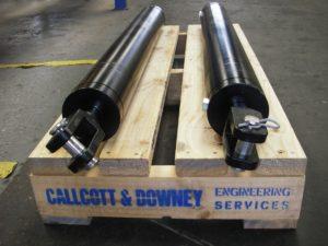 2 Black Agricultural Cylinders