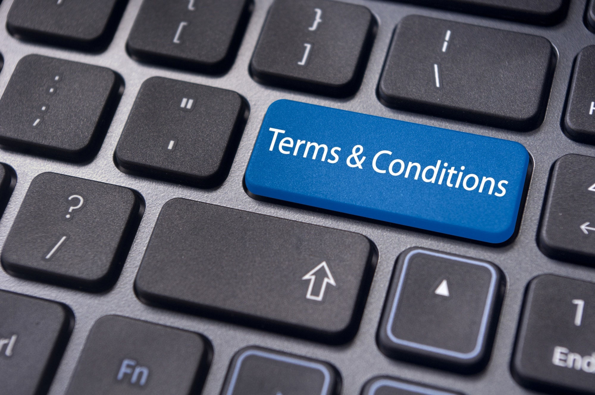Terms and Conditions keyboard