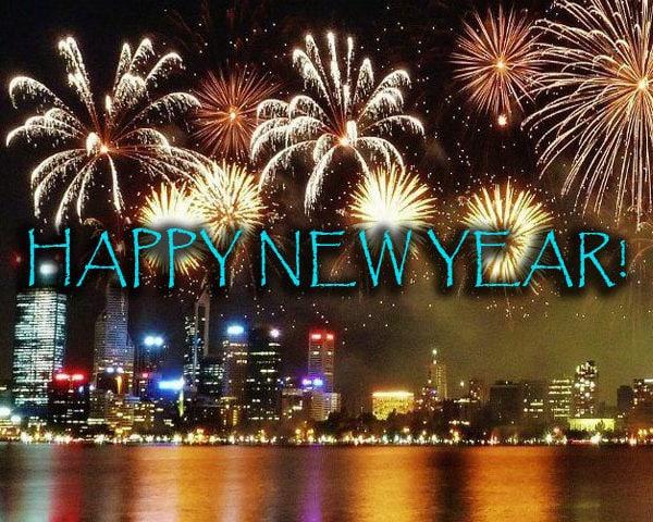 Perth Foreshaw Fireworks NYE