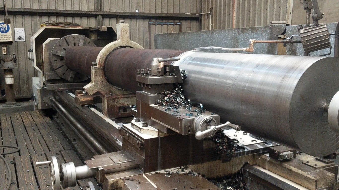 Steel being machined